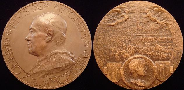 Pius X 1913 Constantine the Great Medal Photo