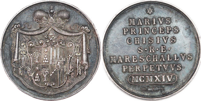 Sede Vacante 1914 Marshal of Conclave Medal Photo