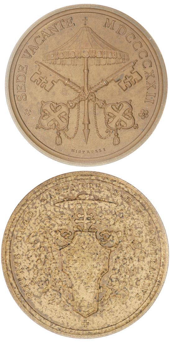 Sede Vacante 1922 Camerlengo Medal Photo