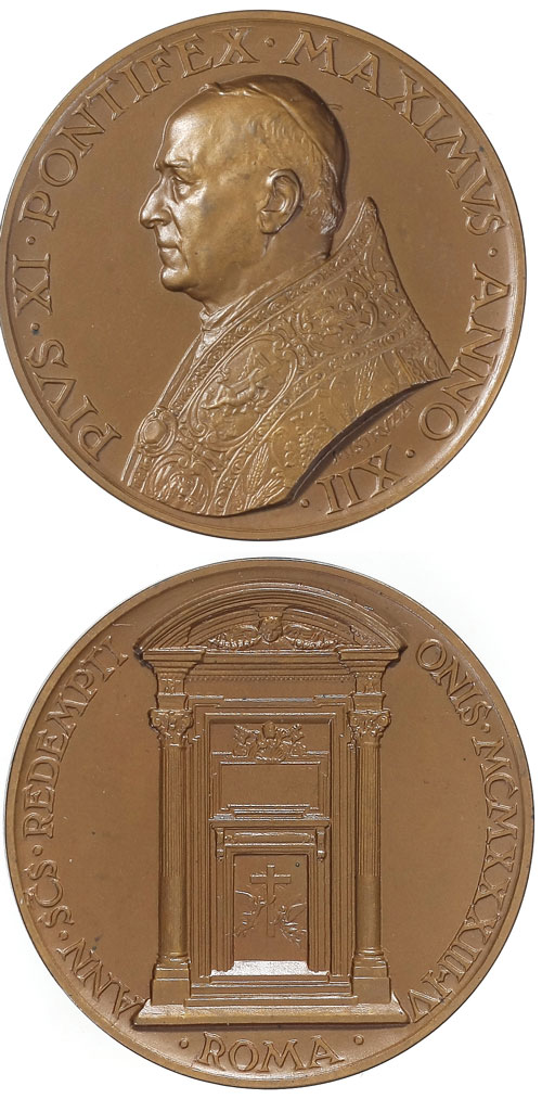 Pius XI 1933-4 Medal for the Holy Year Photo