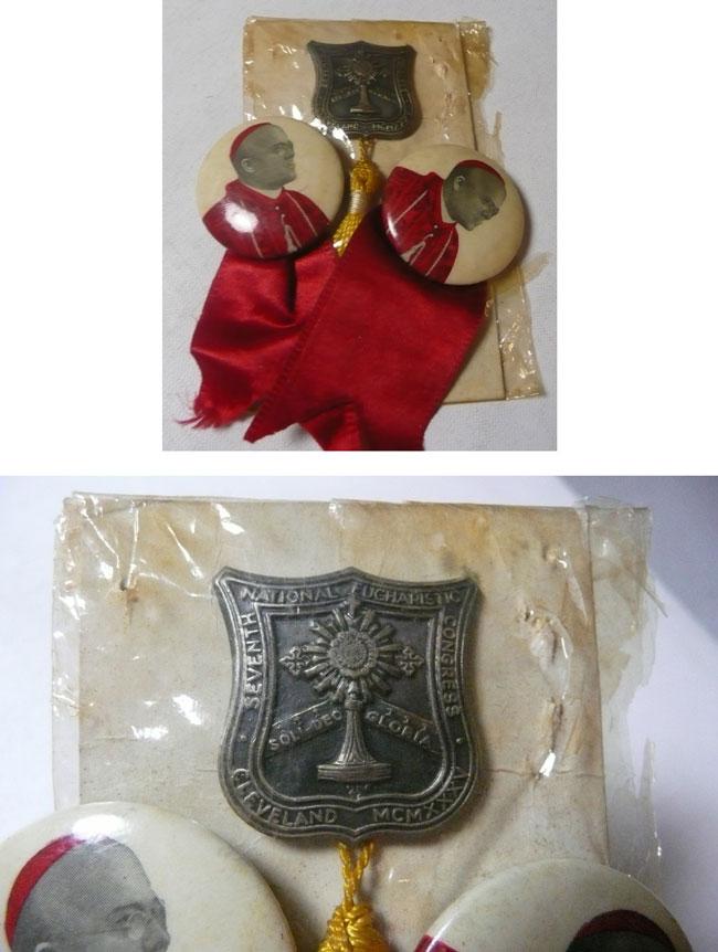 Cleveland 1935 Eucharistic Congress Medal, Pins Photo