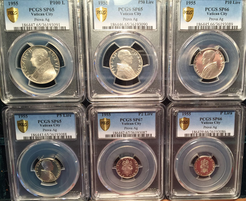 1955 Vatican Prova Set PCGS SP65-67 Photo