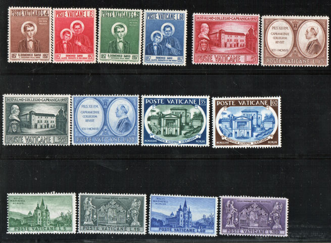 Vatican 1957 Stamp Year Set #219-32 Photo