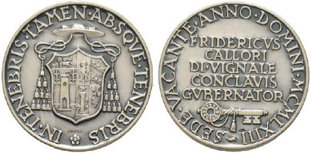 Sede Vacante 1963 Governor of Conclave Ar Medal Photo