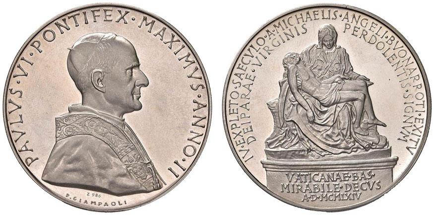 Paul VI (1963-78) Anno II Silver Medal Photo