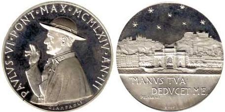 Paul VI (1963-78) Anno III Silver Medal Photo