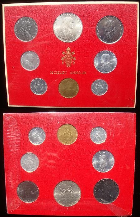 1965 Vatican Mint Set, 8 Coins BU Photo