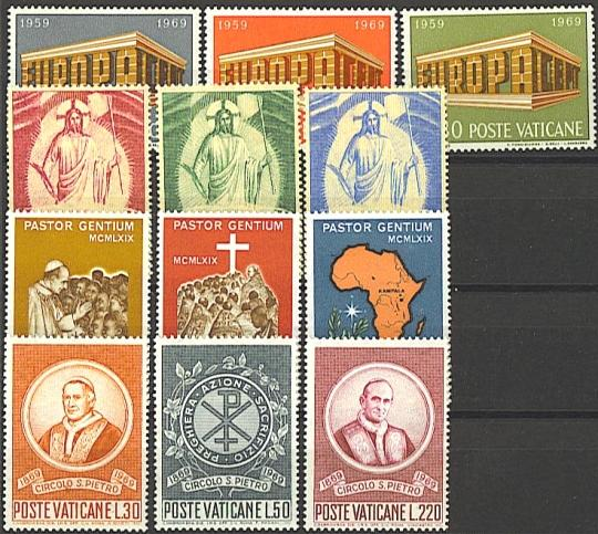 Vatican 1969 Stamp Year Set #467-78 Photo
