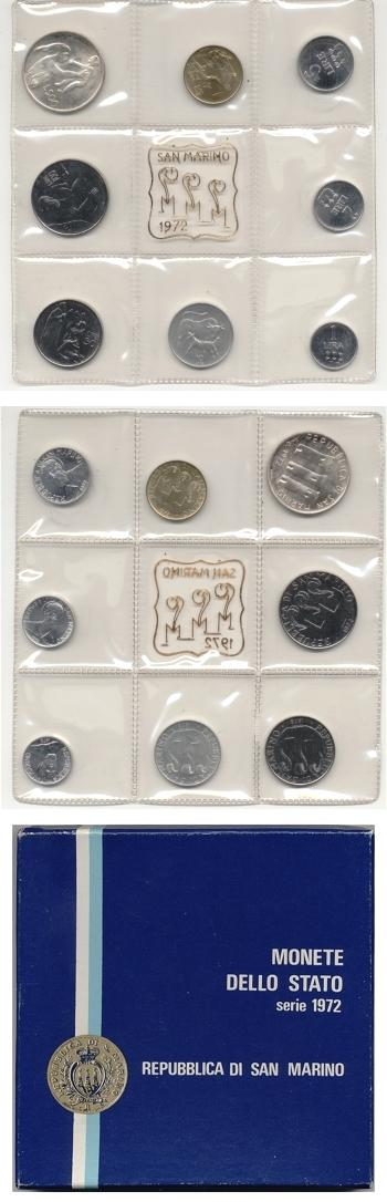 1972 San Marino Mint Set, 8 Coins MANZU Photo