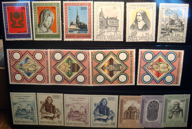 Vatican 1973 Stamp Year Set #531-47 Photo