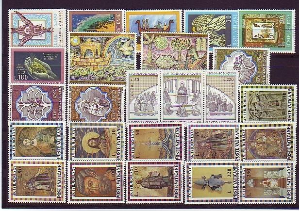 Vatican 1974 Stamp Year Set Photo