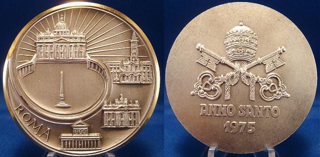 1975 Anno Santo Basilicas of Rome Medal Photo