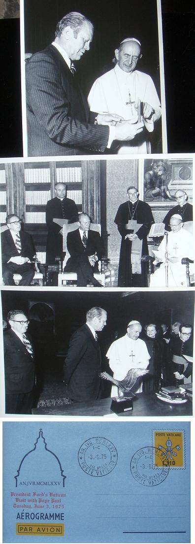 1975 President Gerald Ford's Vatican Visit Photo