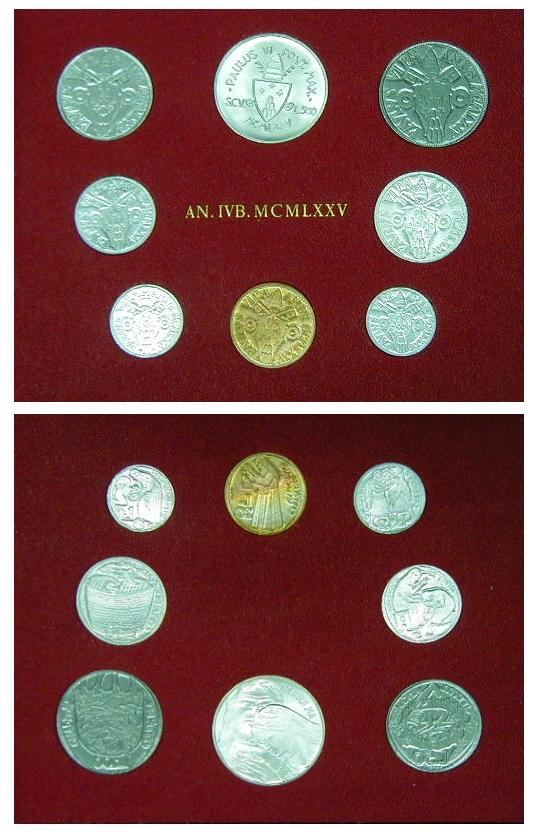 1975 Holy Year Vatican Coin Set Photo