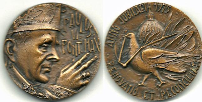 1975 Paul VI Holy Year Medal 50mm Photo