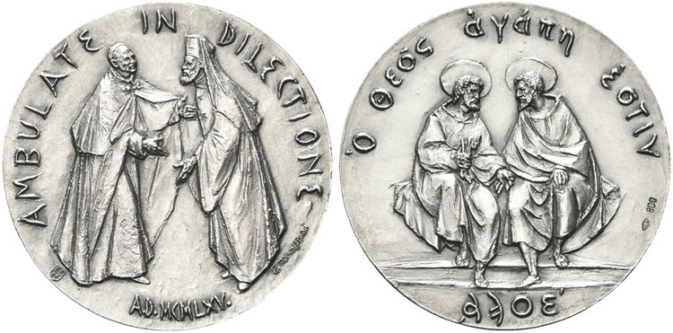 Paul VI 1975 Orthodox Reconciliation Silver Medal Photo