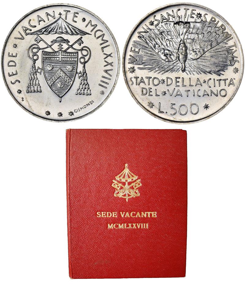 1978 Sede Vacante Silver Coin Photo
