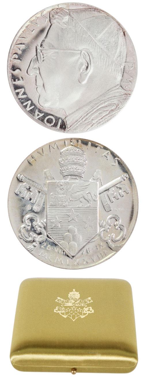 John Paul I (1978) Official Silver Medal Photo