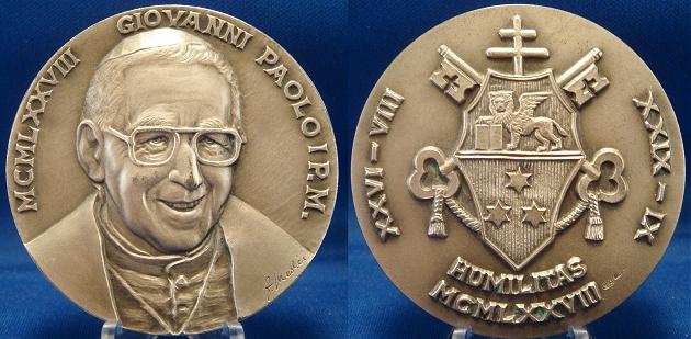 John Paul I 1978 Silver Medal 54.6mm Photo