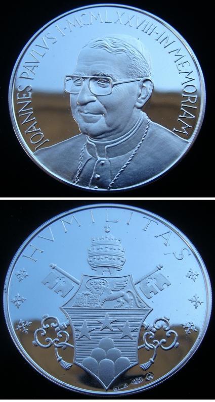 1978 John Paul I Silver Medal 43mm Photo