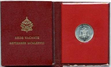 1978 September 500 Lire Sede Vacante Coin B/U Photo