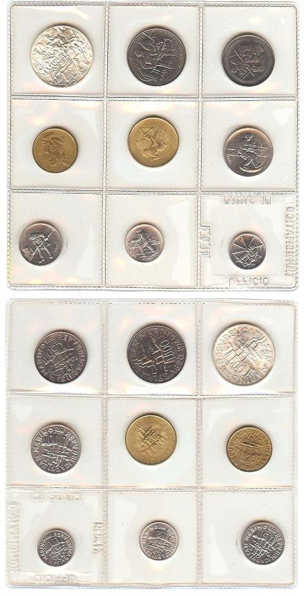 1978 San Marino Mint Coin Set, LABOR Coins Photo