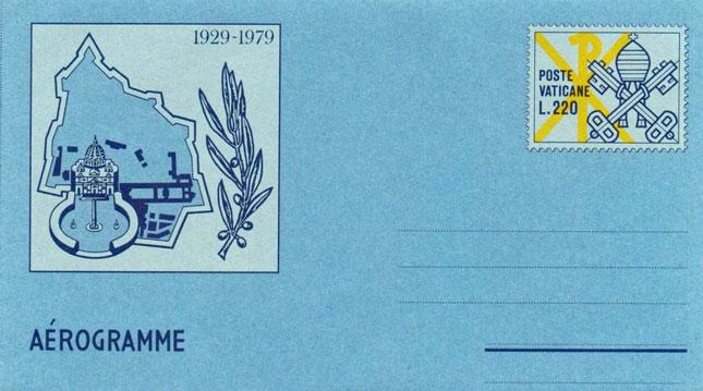 1979 Aerogramme, Founding of Vatican City Photo