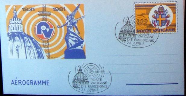 1981 Aerogramme Vatican Radio Photo