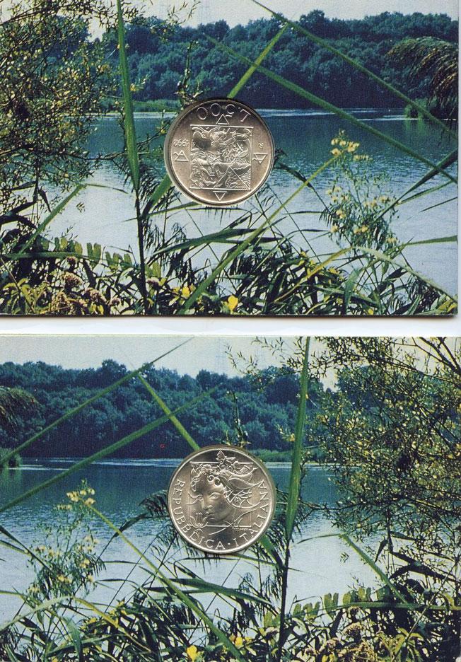1992 Italy 500 Lire Silver Italian Flora & Fauna Photo