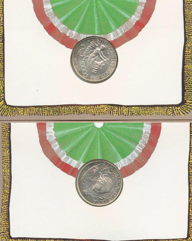 1997 Italy 10,000 Lire Silver Coin TRICOLORE Photo