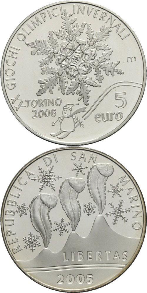 San Marino Turin Winter Olympics Coin Photo