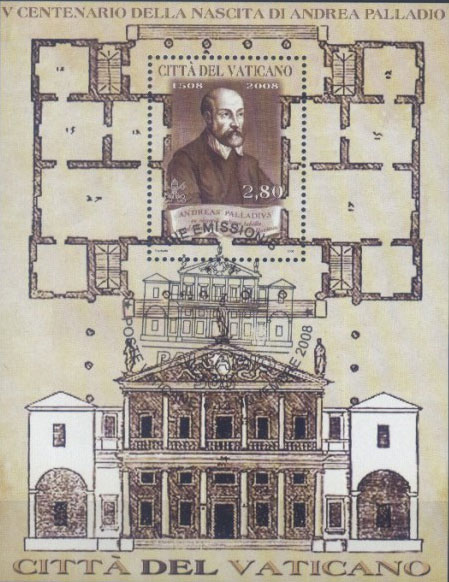 2008 Vatican Souvenir Sheet - Andrea Palladio Photo