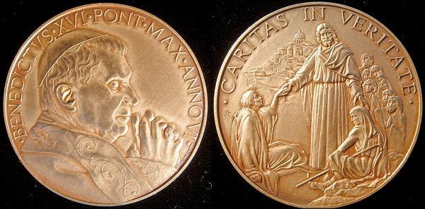 Benedict XVI Anno VI (2010) Bronze Medal Photo