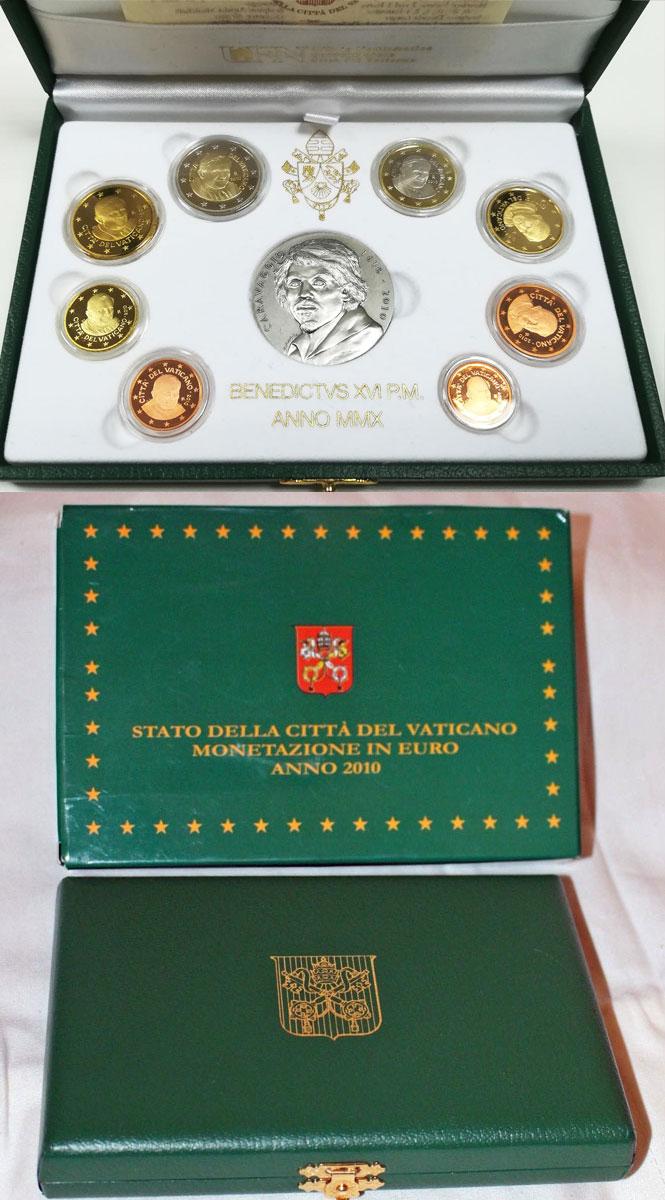 2010 Vatican Mint Set, 8 Euro Coins PROOF Photo