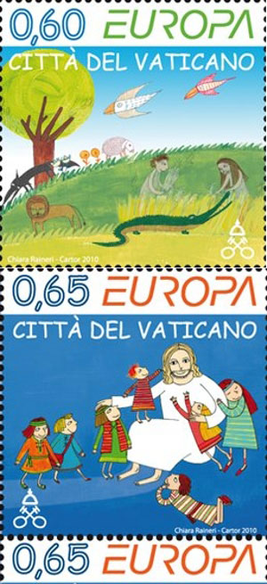 2010 Vatican Stamps Europa - Books for Children Photo