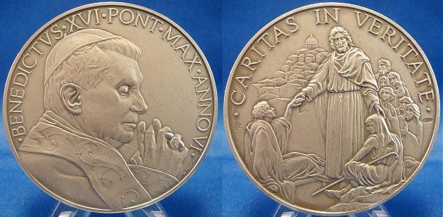 Benedict XVI Anno VI (2010) Silver Medal Photo