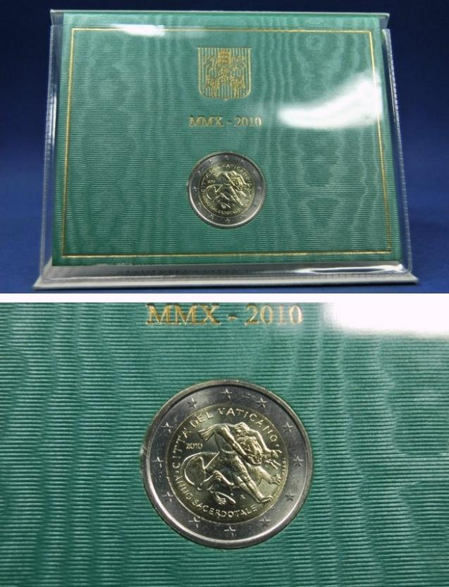 2010 Vatican 2 Euro The Year For Priests Photo