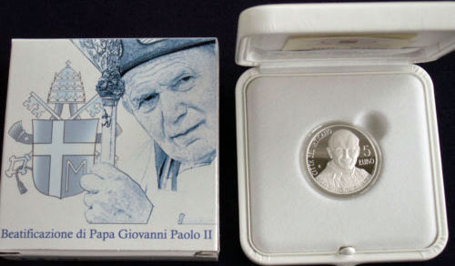 2011 Vatican 5 Euro Beatification of John Paul II Photo