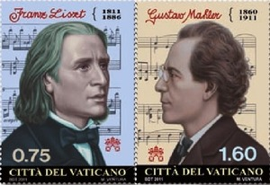 2011 Vatican Stamps: Franz Liszt & Gustav Mahler Photo