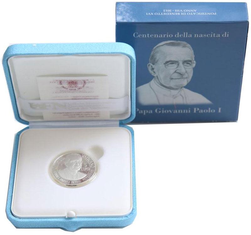 2012 Vatican 5 Euro Birth John Paul I Photo