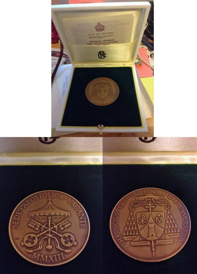 2013 Sede Vacante Bronze Medal Photo