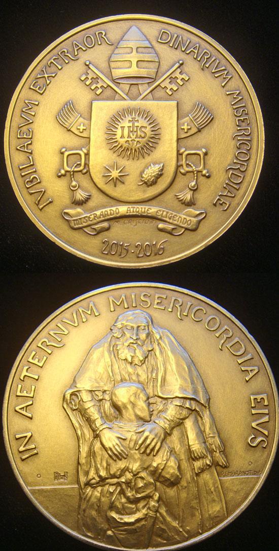 2015-6 Extraordinary Jubilee Vatican Medal 44mm Br Photo