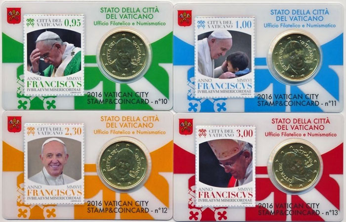 2016 Coin & Stamp Cards #10-#13 Photo