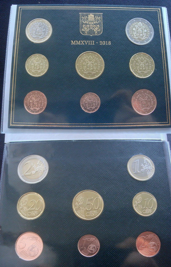 2018 Vatican Coin Set, Pope Francis Photo