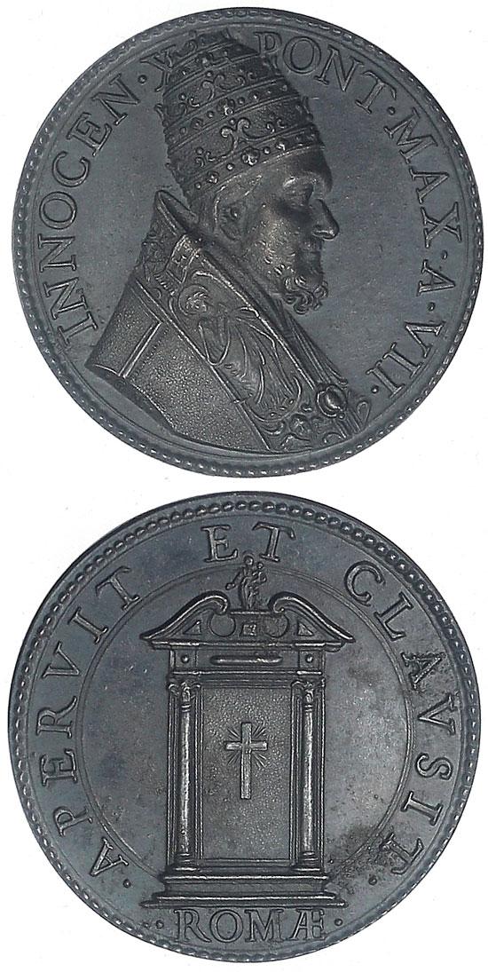 Innocent X (1644-55) Holy Door Medal Photo
