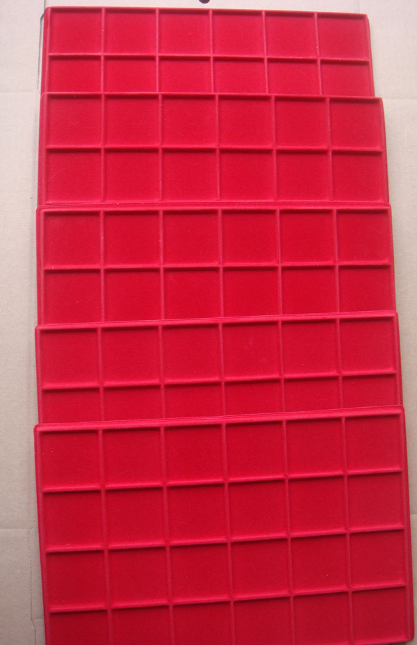 Lot of 10 ABAFIL Coin Trays, 24 Compartments, Red Photo
