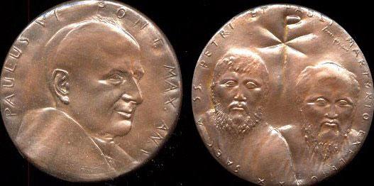 Paul VI (1963-78) Anno V Bronze Medal Photo