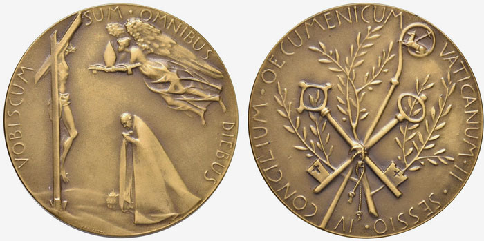 Paul VI 1965 Ecumenical Council Bronze Medal Photo