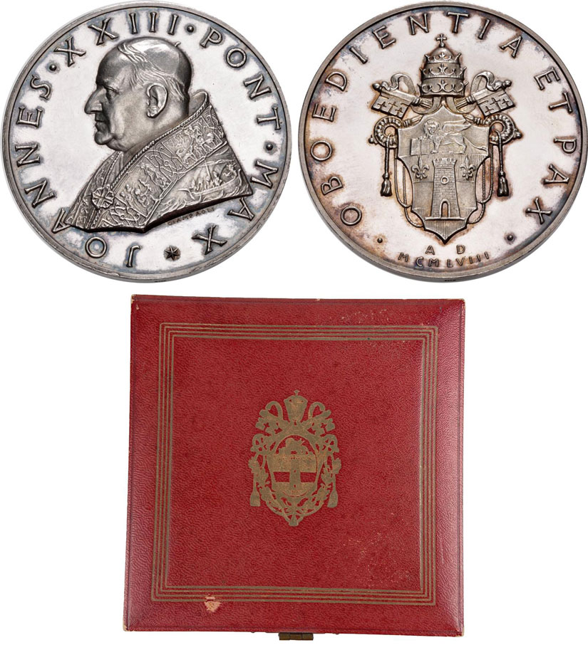 John XXIII 1958 Election Medal 50mm Silver Photo