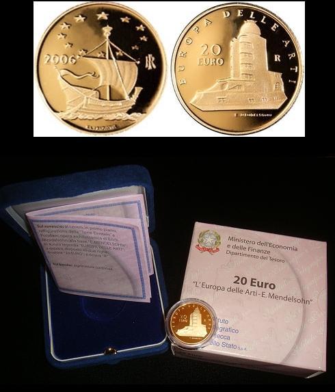2006 Italy 20 Euro Gold - Einstein Tower Photo